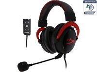 HyperX Cloud 2 Gaming Headset PS4/PC/Mac/Mobile - Red BRAND NEW