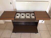 Phillips Hostess Trolley with 4 containers