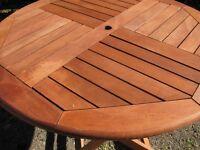 Teak garden table