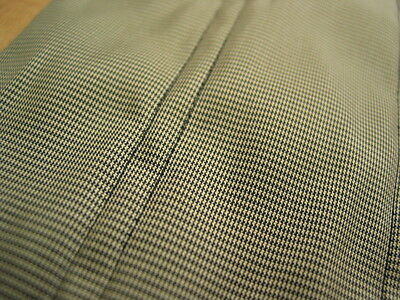 564 FABRIC Quilted Nylon Tan & Black Tiny Check 45