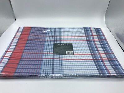 Ralph Lauren - Set of 4 Placemats Plaid 13X19in
