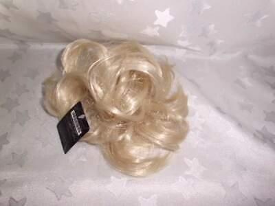 Schöner Damen Haarteil Haargummi Unordentlicher Dutt Blond