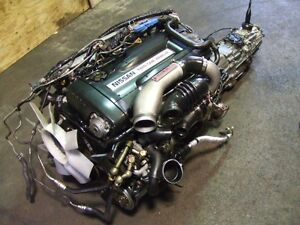 JDM NISSAN SKYLINE GTR R32 RB26DETT TWIN TURBO ENGINE MT TRANNY