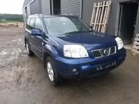 breaking blue bw6 nissan xtrail SVE 2.2 turbo diesel manual leather parts spares
