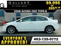 2010 Acura CSX Type-S $99 bi-weekly APPLY NOW DRIVE NOW