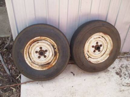 """13"""" Trailer wheels and hubs - Holden HD/HT/HG pattern Lara Outer Geelong Preview"""