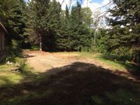 1.5 Acre building lot, With Well, Septic and Garage - Taymouth