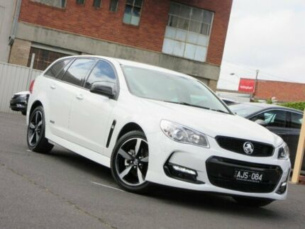 2016 Holden Commodore VF II MY16 SV6 Sportwagon Black White 6 Speed Sports Automatic Wagon