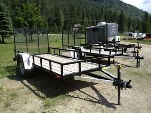 5x8 Rugged Made in Canada Utility Trailers..great for ATVs!