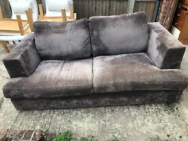 Sofa, Used Condition, Brown (Collection Only)
