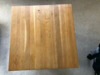 Solid Oak Square Coffee Table