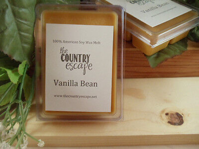 Vanilla Bean Scented Soy Wax Clamshell Melt Tart- 2wks of Fragrance