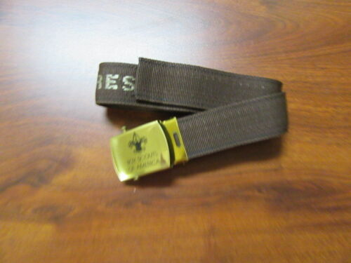 Rodney Scout Reservation Brown Web Belt with BSA Metal Buckle     c6