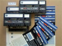 6x TDK MA C60 60 METAL TYPE 4 IV GUARANTEED CASSETTE TAPES 1979-81 W/ CARDS CASES LAB's & FREE P&P