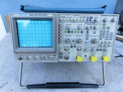 Tektronix 2252 100mhz Analog Digital Oscilloscope W Original Manual