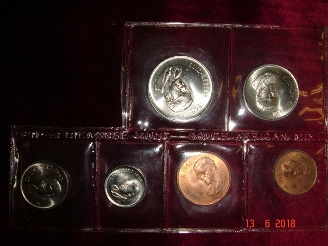 Mint coins collection-1968 SA,  1, 2, 5, 10, 20, 50 cents