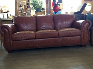 100% GENUINE TOP GRAIN LEATHER SOFA!!!