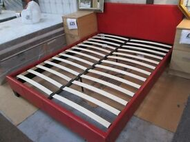 ***BRAND NEW****RED KINGSIZE FAUX LEATHER BED FRAME *ONLY £150+FREE LOCAL DELIVERY+