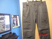 Mens Black combat Jeans NEW never worn 32 waist Long leg poss 32 length