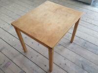 Ikea vintage Kritter style plain wood children's play table