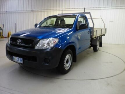 2010 Toyota Hilux TGN16R 09 Upgrade Workmate Blue 5 Speed Manual Cab Chassis Devonport Devonport Area Preview