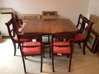 Beautiful Dining Room Table & 6 Chairs (can seat 4 to 14)