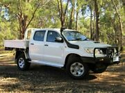 2012 Toyota Hilux KUN26R MY12 SR Double Cab White 5 Speed Manual Cab Chassis Kalamunda Kalamunda Area Preview