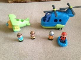 Happyland ELC - plane and helicopter - great set for a boy