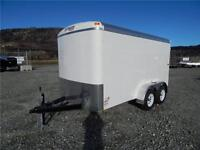 NEW 12'X6' WIDE ENCLOSED CARGO TRAILER TANDEM ROUND TOP 7000lb