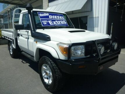 2012 Toyota Landcruiser VDJ79R MY13 Workmate White 5 Speed Manual Cab Chassis Edwardstown Marion Area Preview