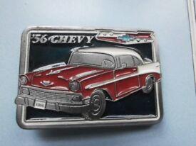 56 chevy belt buckle ( no 2378)