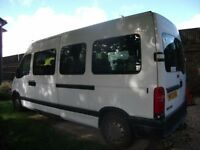 Minibus for use by disabled passengers