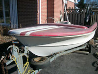 Project Boat with Motor and Trailer