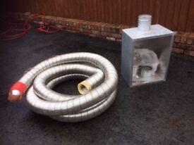 8 metre of flue liner + gas fire back box