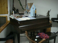 Hallet Davis & Co antique baby grand piano