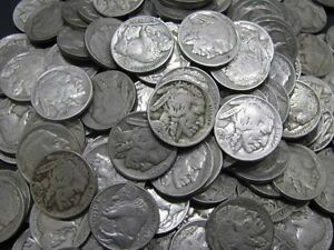 Old Buffalo Nickel Coin Lot Full Date United States 10 Coins