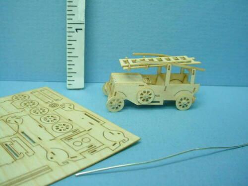 Dollhouse Miniature Fire Engine Kit 1/144th Scale Va - Holzkunst, Germany