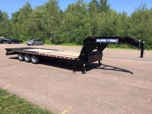 "NEW 2019 SURE-TRAC 102"" x 25' G/N DECK-OVER TRI-AXLE TRAILER"