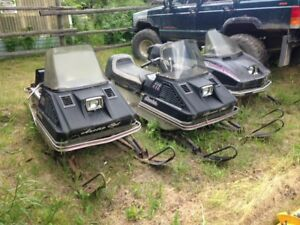 Old Arctic Cat Sleds for Parts