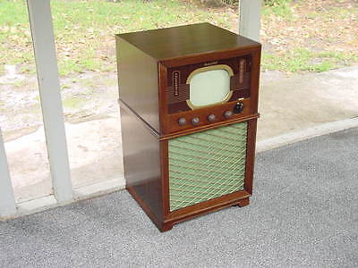 "Vintage 1940's Packard Bell Model 3381, ""Telecaster"" 10"" Console TV w/ FM Radio, used for sale  Seminole"