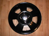 """Set of 16"""" black powder coated alloy rims for Ford Focus  4x108"""