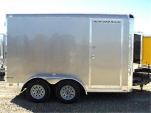 7 x 12 Tandem Axle Enclosed Trailer - TAX IN PRICE - Radial, LED