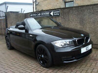 10 10 REG BMW 118i 2.0 SPORT CONVERTIBLE 2DR 1 LADY OWNER LOW MILEAGE LEATHER