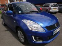 15 SUZUKI SWIFT SZ2 5 DOOR PETROL HATCHBACK £30 ROAD TAX
