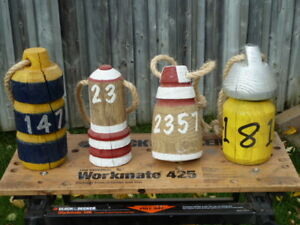 Nautical Handcrafted Wooden Buoys