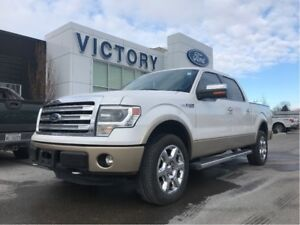 """2014 Ford F-150 Lariat, Leather, 20\"""" Chrome Wheels, HTD/Coold S"""