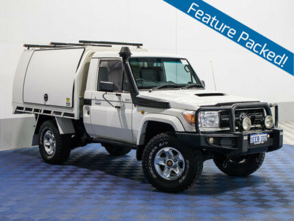 2012 Toyota Landcruiser VDJ79R MY12 Update GX (4x4) White 5 Speed Manual Cab Chassis