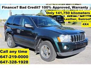 2005 Jeep Grand Cherokee Laredo 4X4 FINANCE 100% APPROVED 141K