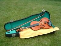 Stentor Student Violin, with bow and hard case.