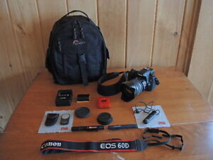 Canon 60D and accessories for sale...